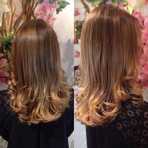 Aanzet opgelicht met verf De haarpunten waren groenOpfrissing gegeven met een naturel kleur blond