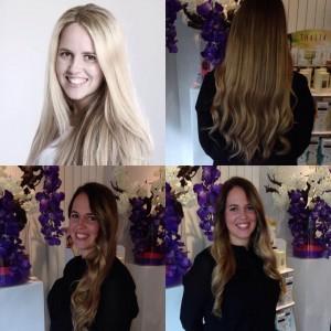 Balayage van lichte haarkleur naar donker