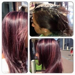 Basis kleur Violet pastel plukjes