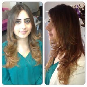 Haircolor Balayage and haircutting
