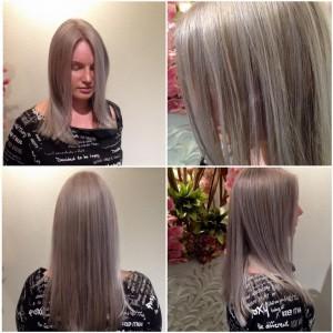 De nieuwste trendy kleur as blond/grijs