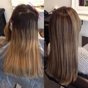 Balayage ash naturel brown