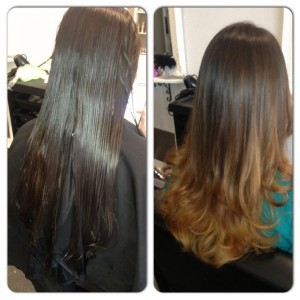 Haircolor Balayage and haircutting
